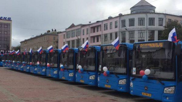 Брянск получил еще 28 новых автобусов ЛиАЗ